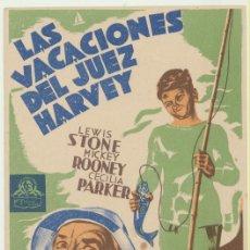 Cine: LAS VACACIONES DEL JUEZ HARVEY. SENCILLO DE MGM.. Lote 52161528
