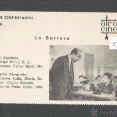 Cine: LA BARRERA - CINE INFANTIL - OTRO CINE - (C-2280). Lote 52161532