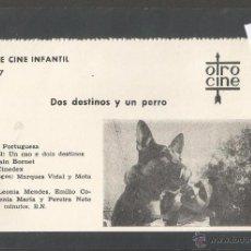Cine: DOS DESTINOS Y UN PERRO - CINE INFANTIL - OTRO CINE - (C-2286). Lote 52161629