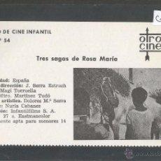 Cine: TRES SAGAS DE ROSA MARIA - CINE INFANTIL - OTRO CINE - (C-2293). Lote 52161723