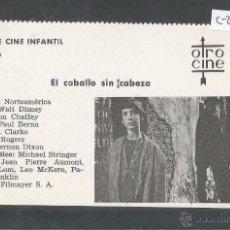 Cine: EL CABALLO SIN CABEZA - CINE INFANTIL - OTRO CINE - (C-2295). Lote 52161757