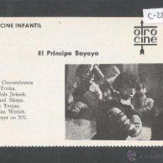 Cine: EL PRINCIPE BAYAYA - CINE INFANTIL - OTRO CINE - (C-2296). Lote 52161774