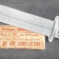 Cine: LA CALLE DE LOS CONFLICTOS,FOLLETO DE MANO TROQUELADO,(11241),CONSERVACION,VER FOTOS. Lote 52287277