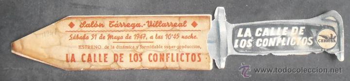 Cine: LA CALLE DE LOS CONFLICTOS,FOLLETO DE MANO TROQUELADO,(11241),CONSERVACION,VER FOTOS - Foto 3 - 52287277