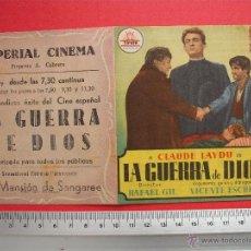 Cine: FOLLETO DE MANO - LA GUERRA DE DIOS - 1953. Lote 52320844