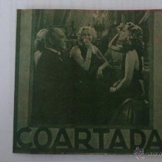 Cine: COARTADA, PROGRAMA DOBLE. Lote 52329748