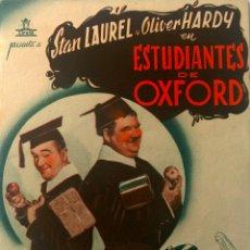 Cine: ESTUDIANTES DE OXFORD- STAN LAUREL-OLIVER HARDY-DOBLE-. Lote 52359044