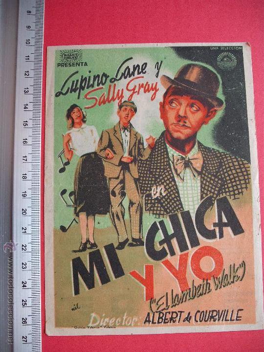 FOLLETO DE MANO - MI CHICA Y YO - 1944 (Cine - Folletos de Mano - Comedia)