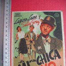 Cine: FOLLETO DE MANO - MI CHICA Y YO - 1944. Lote 52447386