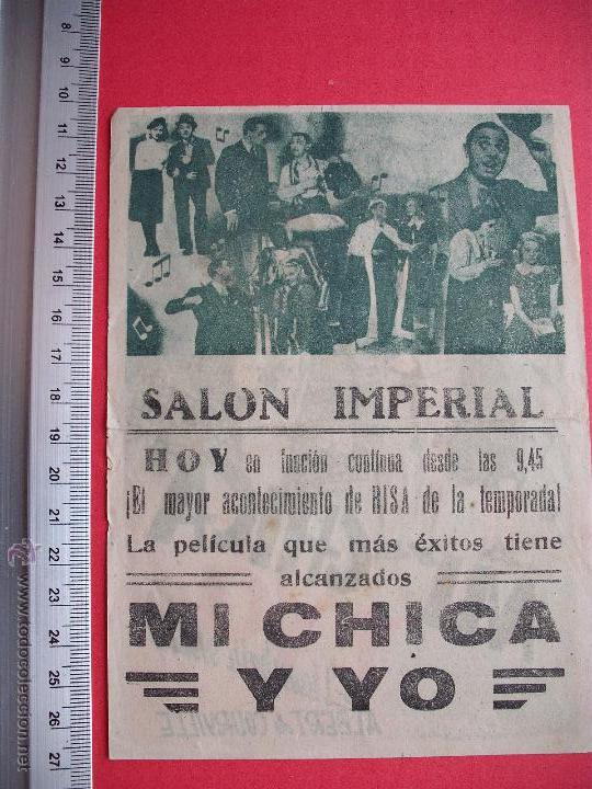 Cine: FOLLETO DE MANO - MI CHICA Y YO - 1944 - Foto 2 - 52447386