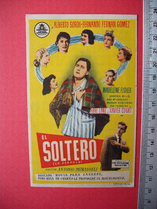 FOLLETO DE MANO - EL SOLTERO - 1958 (Cine - Folletos de Mano - Comedia)