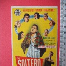 Cine: FOLLETO DE MANO - EL SOLTERO - 1958. Lote 52454904