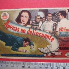 Cine: FOLLETO DE MANO - APENAS UN DELINCUENTE - 1951. Lote 52459232