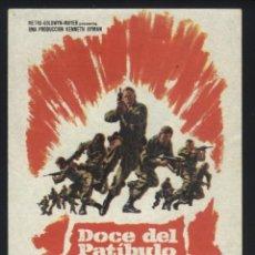 Cine: P-5740- DOCE DEL PATIBULO (THE DIRTY DOZEN) (CINE MODERNO - TARRAGONA) LEE MARVIN - CHARLES BRONSON. Lote 186167011
