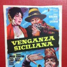 Cine: VENGANZA SICILIANA - ERNEST BORGNINE, VITTORIO GASSMAN.PERFECTO ESTADO-FALBUN. Lote 158822922