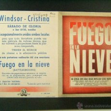 Cine: FUEGO EN LA NIEVE-WILLIAM A.WELLMAN-VAN JOHNSON-JOHN HODIAK-CINE WINDSOR,CRISTINA-BARCELONA-(1949). Lote 52549147