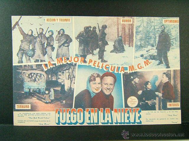 Cine: FUEGO EN LA NIEVE-WILLIAM A.WELLMAN-VAN JOHNSON-JOHN HODIAK-CINE WINDSOR,CRISTINA-BARCELONA-(1949) - Foto 2 - 52549147