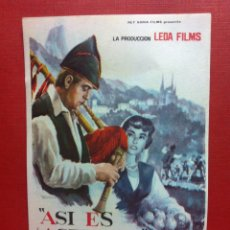 Cine: ASI ES ASTURIAS,FOLLETO DE MANO-FALBUN. Lote 105988746