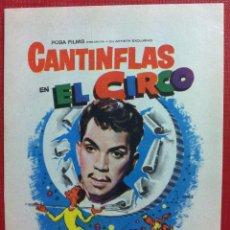 Cine: CANTINFLAS EN EL CIRCO. SENCILLO DE POSA FILMS-FALBUN. Lote 148960162