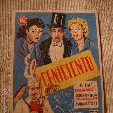 Cine: ANTIGUO FOLLETO DE MANO PELICULA EL CENICIENTO, AÑOS 40/50 ELCHE.. Lote 28685205