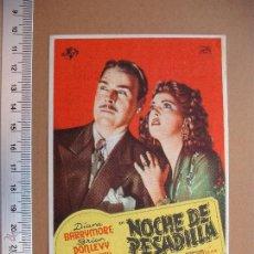 Cine: NOCHE DE PESADILLA- 1946. Lote 52625534