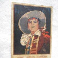 Cine: EL HIJO DEL PIRATA SIMON GERARD PROGRAMA CINE TARJETA .AÑO 1923.. Lote 52638736