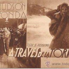 Cine: FOLLETO A TRAVÉS DE LA TORMENTA / ROCHELLE HUDSON Y HENRY FONDA. Lote 52655005