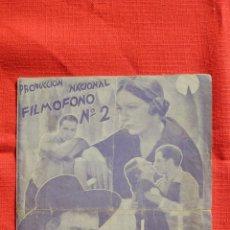Cine: LA HIJA DE JUAN SIMON, DOBLE 1936, PILAR MUÑOZ CARMEN AMAYA, CON PUBLICIDAD MODERNO. Lote 52658487