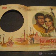 Cine: QUO VADIS 1954 - ROBERT TAYLOR, D. KEER - TEATRO TRUEBA BILBAO - M. GOLDEN MAYER - DOBLE TROQUELADO. Lote 52667495