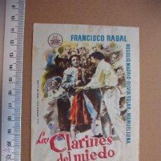 Cine: LOS CLARINES DEL MIEDO- 1960. Lote 52670634