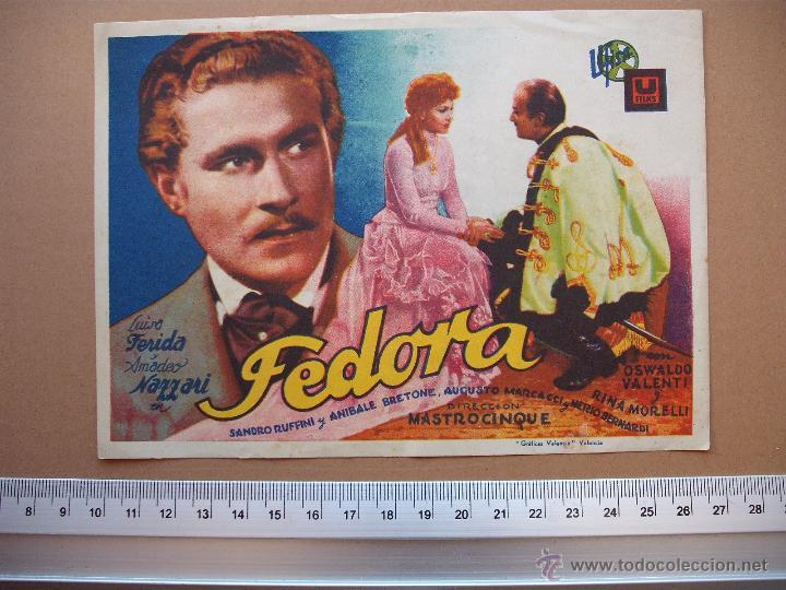 FEDORA -1943 (Cine - Folletos de Mano - Comedia)