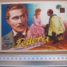 Cine: FEDORA -1943. Lote 52674407