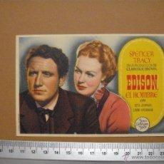 Cine: EDISON EL HOMBRE - 1946. Lote 52693762