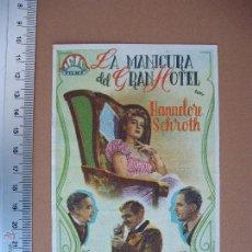 Cine: LA MANICURA DEL GRAN HOTEL - 1947. Lote 52695244