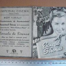 Cine: ESCUELA DE SIRENAS -1948. Lote 52701752