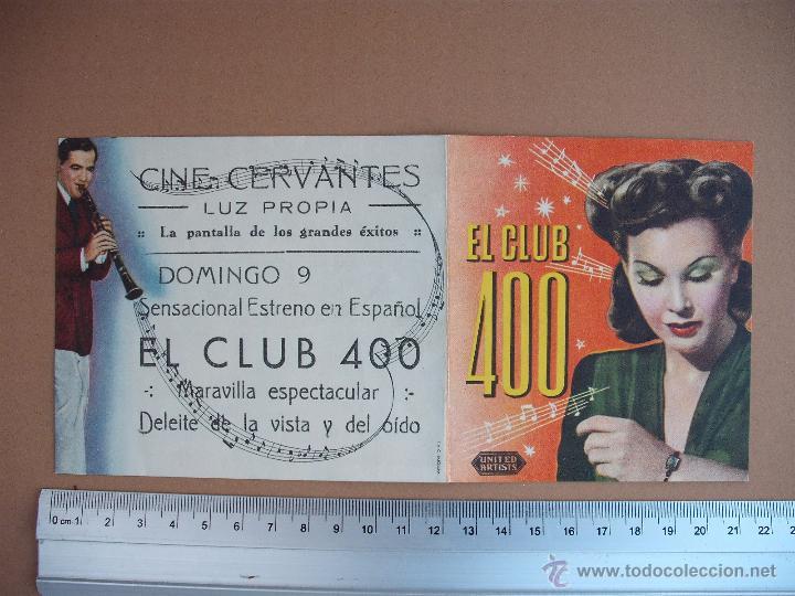 CLUB 400 - 1945 (Cine - Folletos de Mano - Comedia)