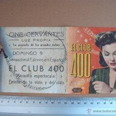 Cine: CLUB 400 - 1945. Lote 52704609