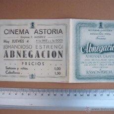 Cine: ABNEGACION - 1946. Lote 52705613