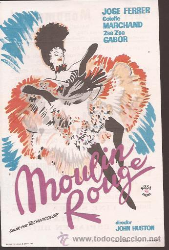 MOULIN ROUGE / ZSA ZSA GABOR (Cine - Folletos de Mano - Musicales)