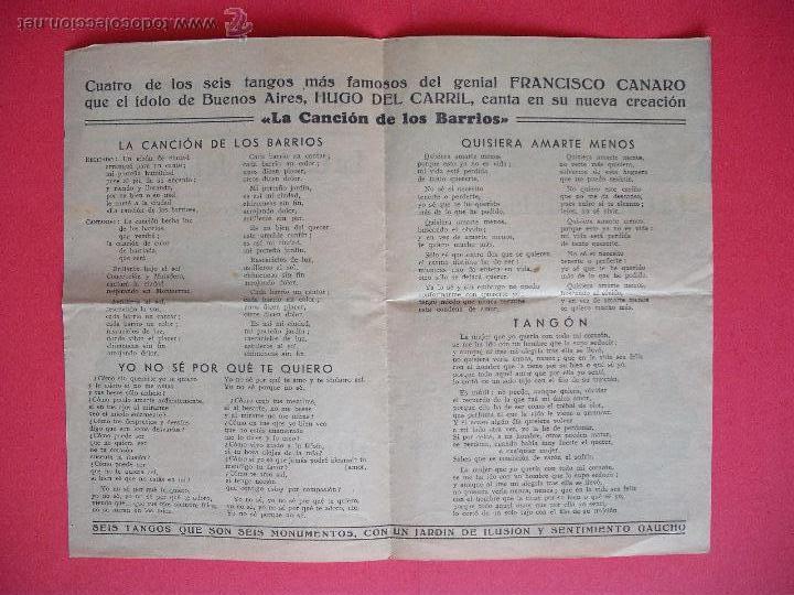 Cine: LA CANCION DE LOS BARRIOS - 1943 - Foto 2 - 52728152