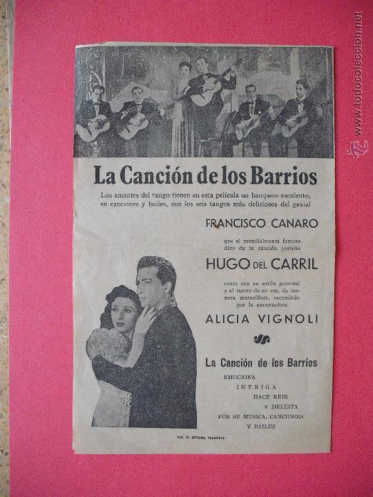 Cine: LA CANCION DE LOS BARRIOS - 1943 - Foto 3 - 52728152