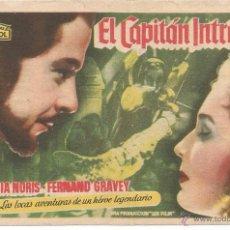 Cine: EL CAPITÁN INTRÉPIDO - SENCILLO - ARAJOL - CINE PLAZA DE TOROS (HELLIN). Lote 52748817