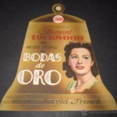 Cine: BODAS DE ORO - MARGARETLOCKWOOD, MICHAEL WILDING - CEPICSA - TROQUELADO. Lote 52752156