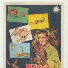 Flyers Publicitaires de films Anciens: ALAS Y GARRAS. SENCILLO DE IZARO FILMS. ¡IMPECABLE!. Lote 52793150