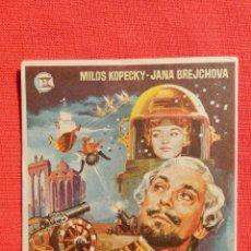 Cine: EL BARON FANTASTICO, IMPECABLE SENCILLO ORIGINAL, MILOS KOPECKY JANA BREJCHOVA, SIN PUBLICIDAD. Lote 52820746