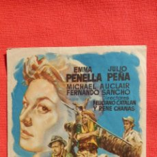 Cine: TRES HOMBRES VAN A MORIR, SENCILLO GRANDE EXCTE. ESTADO, EMMA PENELLA JULIO PEÑA, CON PUBLI IRIS. Lote 52820985