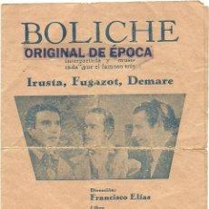 Cine: (PG-1122)PROGRAMA DE CINE,BOLICHE. Lote 52836235