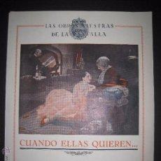 Cine: CUANDO ELLAS QUIEREN - SELECCION GAUMONT CINE MUDO - UNA HOJA - MIDE 21 X 27 CM. - (C-2338). Lote 52842284