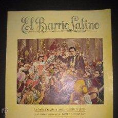 Cine: EL BARRIO LATINO - SELECCION GAUMONT CINE MUDO - DOBLE - VER FOTOS - MIDE 21 X 27 CM. - (C-2339). Lote 52842336