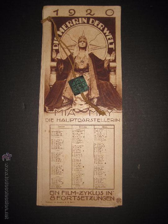 LA DUEÑA DEL MUNDO - DIE HERRIN DER WELT - CALENDARIO 1920 -VER FOTOS- 10X 24 CM- 4 HOJAS - (C-2341) (Cine - Folletos de Mano - Aventura)